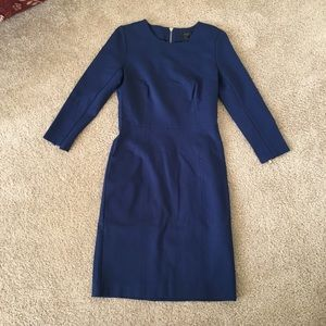J. Crew Structured Knit Zip Dress